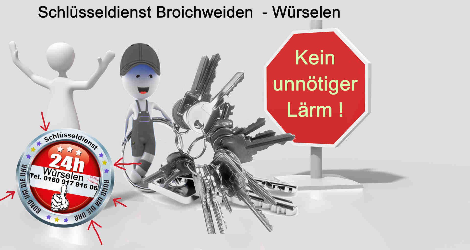Schlüsseldienst Broichweiden Helleter Feldchen Vorweiden Dobach Linden Neusen Nassau Merzbrück