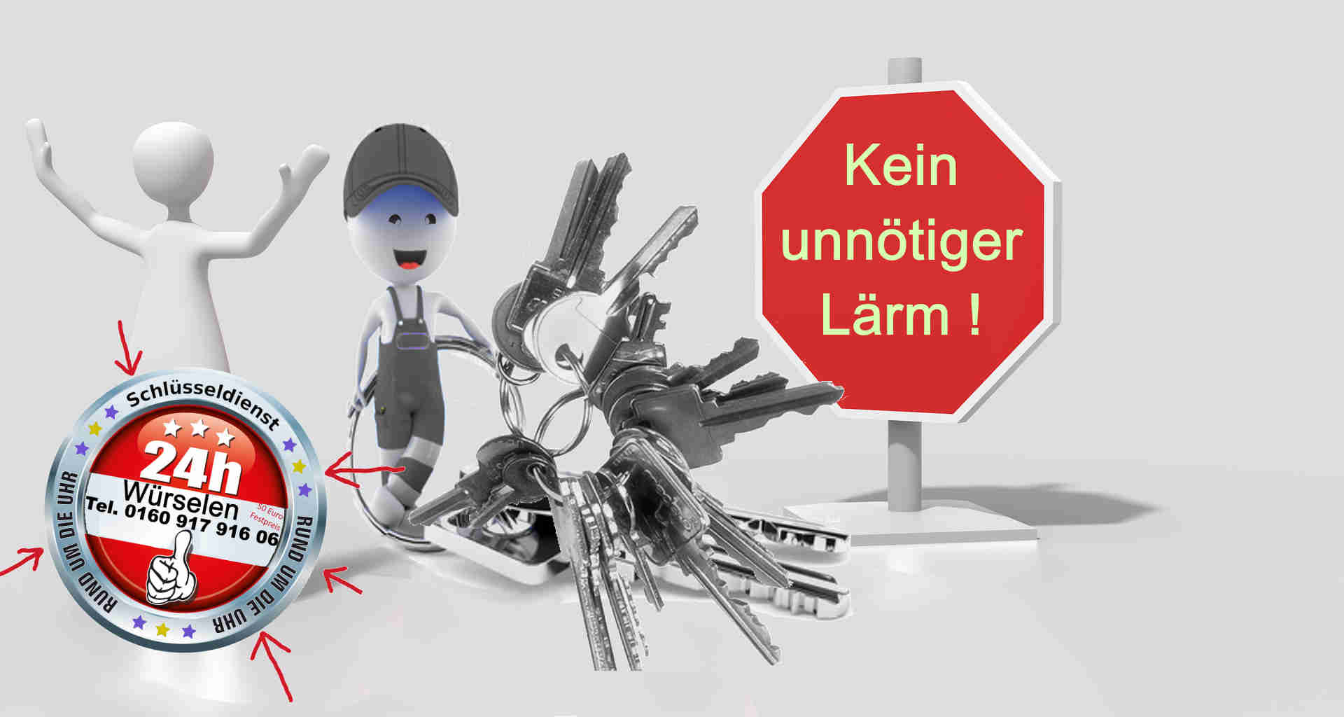 Schlüsseldienst Würselen Morsbach Bardenberg Broichweiden Schweilbach Teut Oppen Haal und Linden ist Leise und diskret --