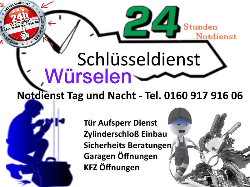 Schlüsseldienst Würselen Morsbach sowie Schlüsseldienst Würselen Teut Siedlung 50 Euro Festpreis für jede Tür Öffnung in Würselen