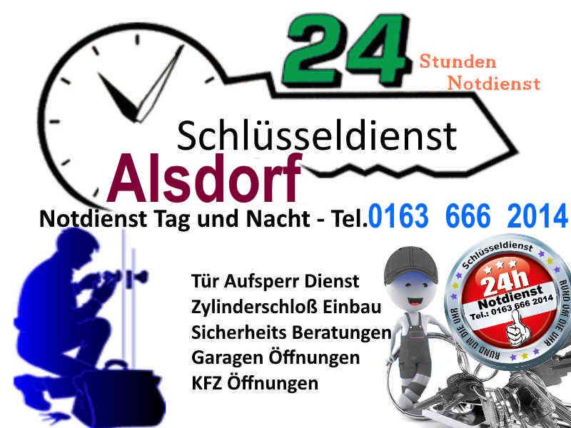 Schlüsseldienst Alsdorf Baesweiler Mariadorf Hoengen zum 50 Euro Festpreis Tag und Nacht