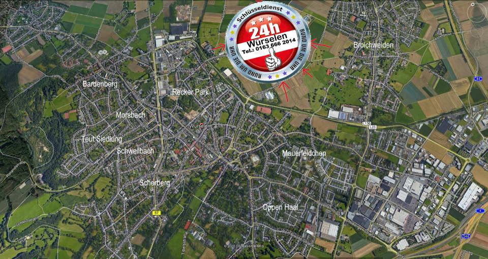 Schlüsseldienst Notdienst Gebiet Würselen - In allen Regionen kostet das Tür öffnen nur 50 Euro